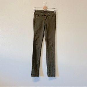 J Brand Olive Skinny Jeans